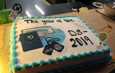 """Year of the DS-2019"" cake"